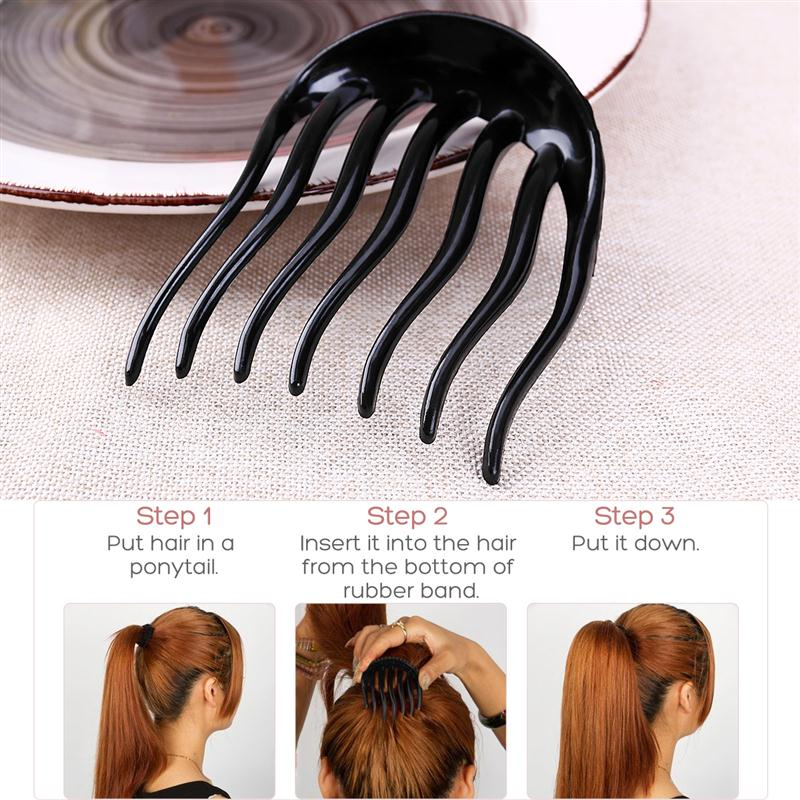 6pcs Hair Pits Volumizing Inserts Ponytail Pump Beauty Set Tool Gift Women Hairpins Comb Accessories In Styling From