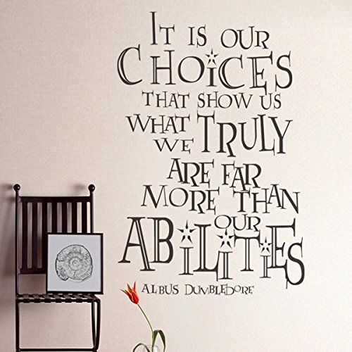 It Is Our Choices Vinyl L Wall Decal Harry Potter Quote Albus