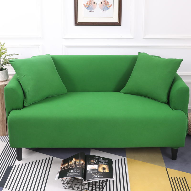 US $38.35 35% OFF|Dark Green Color Tight All Inclusive Sofa Cover Stretch  Sofa Slipcover Fabric Elastic Couch Cover Loveseat Sofa Furniture Cover-in  ...