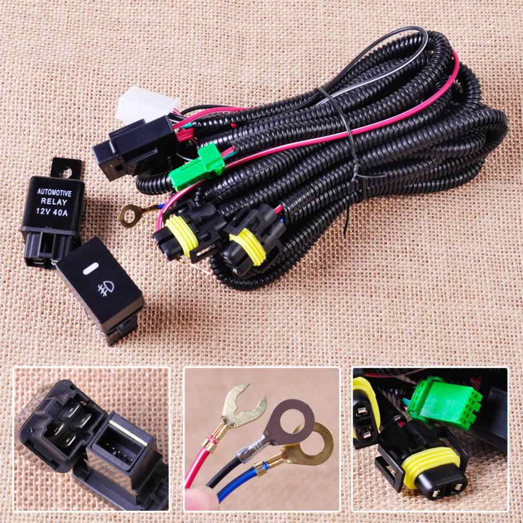 H3 55w Fog Light Wiring Kit With Fuse Switch 12v Free Shipping