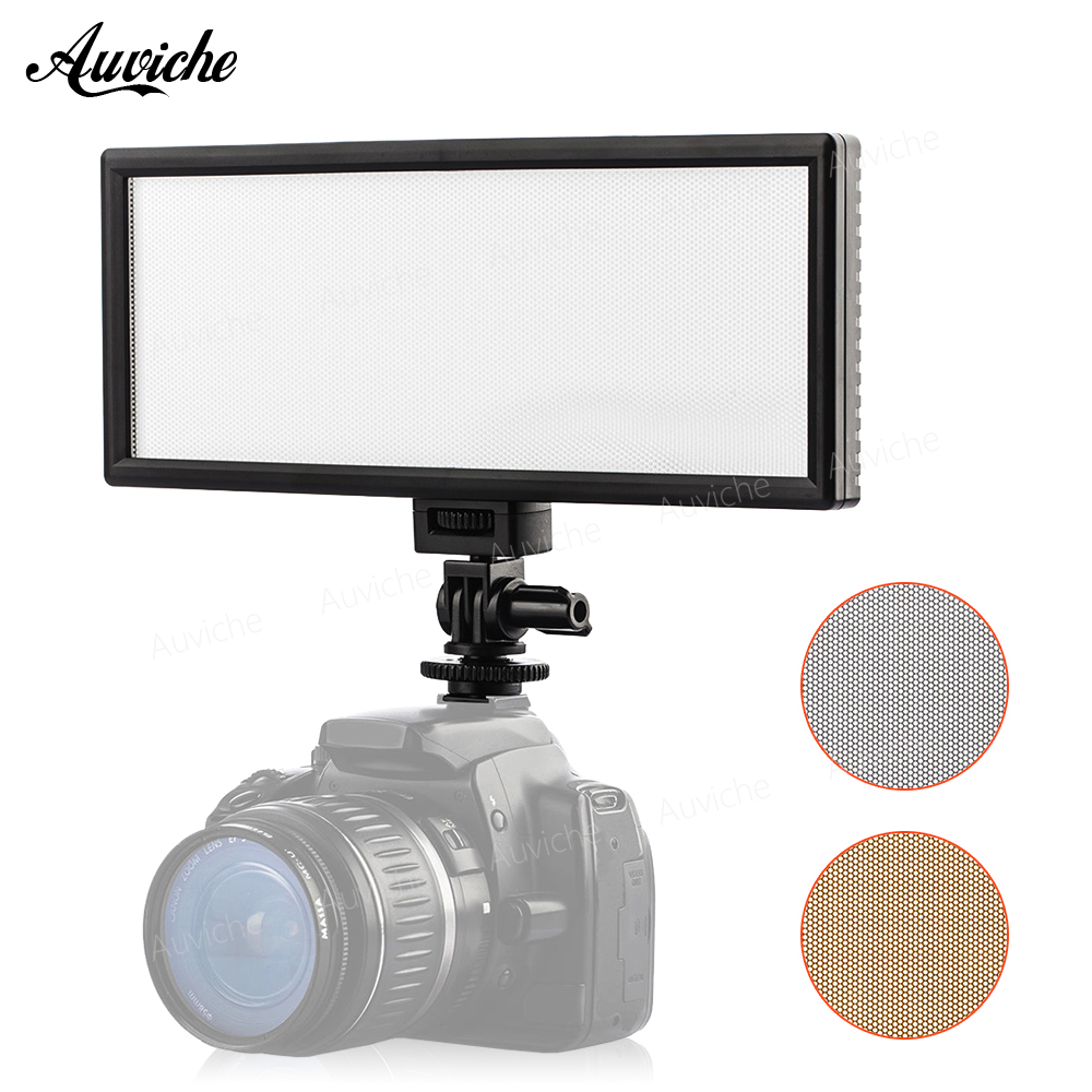 VILTROX L132T Professional Ultra-thin LED Video Light Fill Light Adjustable Brightness and Dual Color Temp for Canon Nikon Sony