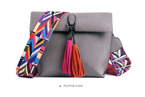 EXCELSIOR Women's Bag Scrub PU Crossbody Bags Luxury Handbags Women Bags Designer bolso mujer Colorful Strap sac a main femme 4