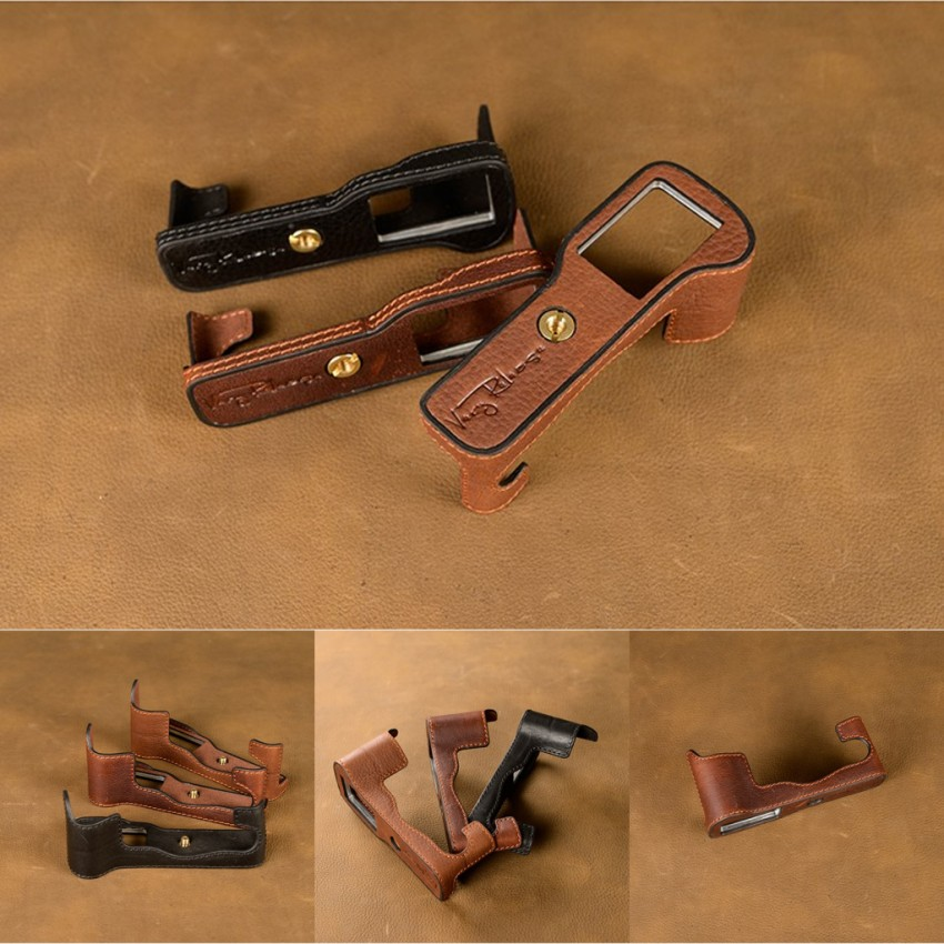 все цены на [VR] Genuine Leather Handmade Camera case For Fuji Fujifilm XT2 XT-2 Video Bag Half Body Bottom Case онлайн