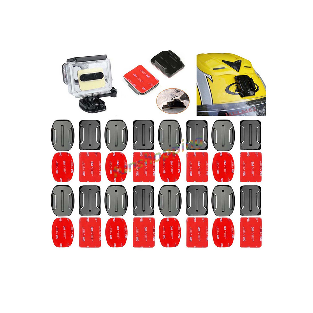 Objective For Go Pro Accessories Sticker 16 Pcs Flat Curved Mount 16pcs Adhesive For Gopro Hd Hero 1 2 3 3+ 4 5 6 Xiaomi Yi Sj4000 Sports