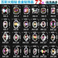 Nouveau 2017-ML-100 PCS/Lot paillettes strass 3D alliage ongles charme luxe pierre Zricon ongles bijoux * livraison gratuite * A4-1-24