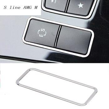 סטיילינג מכונית מדבקות פנל קונסולת ES מסגרת כפתור נירוסטה לקצץ עבור מרצדס בנץ E Class w212 2012 2015 אביזרי רכב-במדבקות לרכב מתוך רכבים ואופנועים באתר