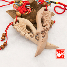 wood Sword Pendant Jewelry knife light leading anti mistress anti tongue evil defends security and peace of the villain