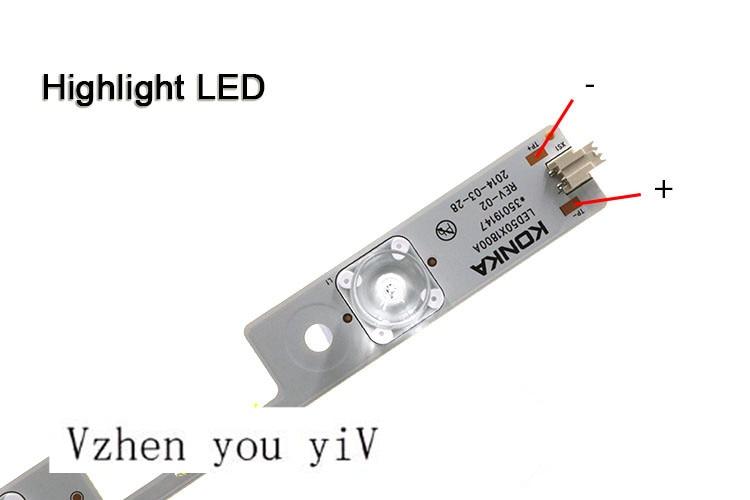 5pcs/for KONKA 6 Leds 51.5 cm concave lens 3V32 inch general purpose LCD TV backlight strip led50X1800A lamp bar