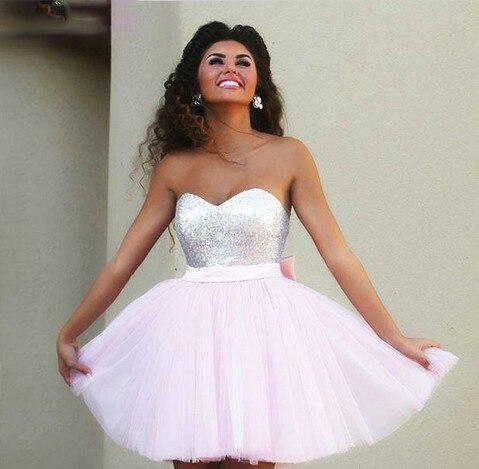 Розовое платье коктейльное-фото