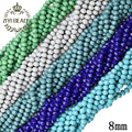 8MM Briolette Pendant Austrian Crystal Beads Top Quality Faceted Glass Beads For Jewelry Making Bracelet DIY