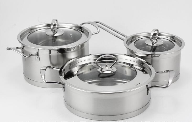 Ensemble de soupe à double fond non magnétique en acier inoxydable, pot de lait, poêle à frire