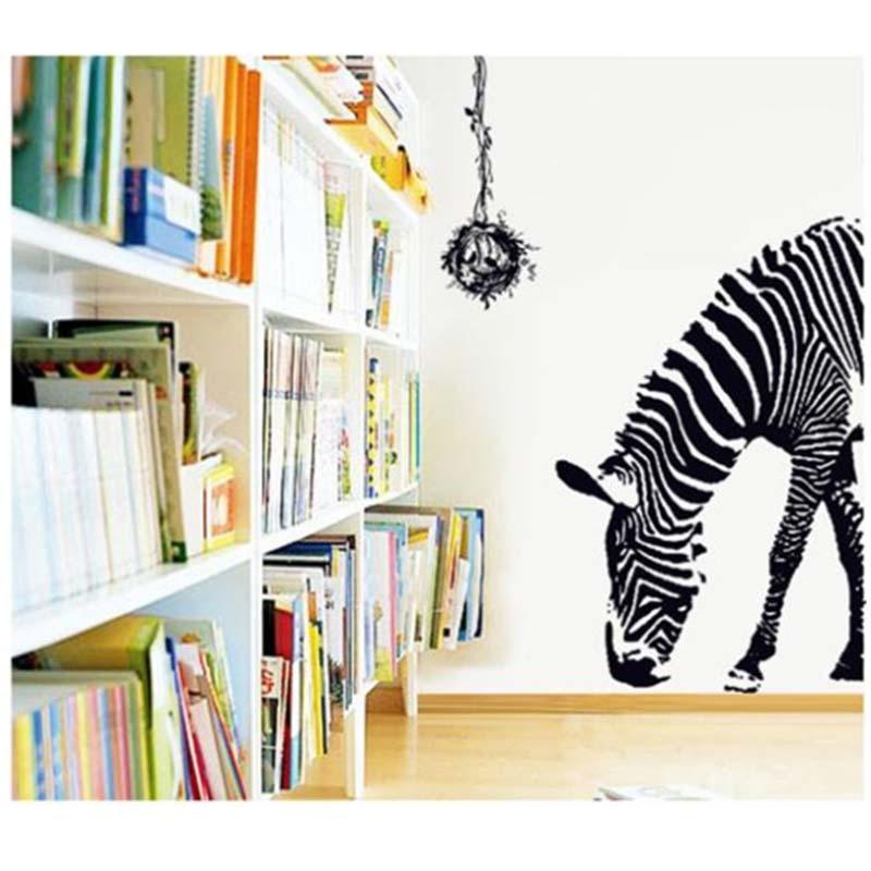 Delicate Huge Black Zebra Bird Nest Wall Sticker Kids 9030 Diy Print Mural  Art Decal Animal