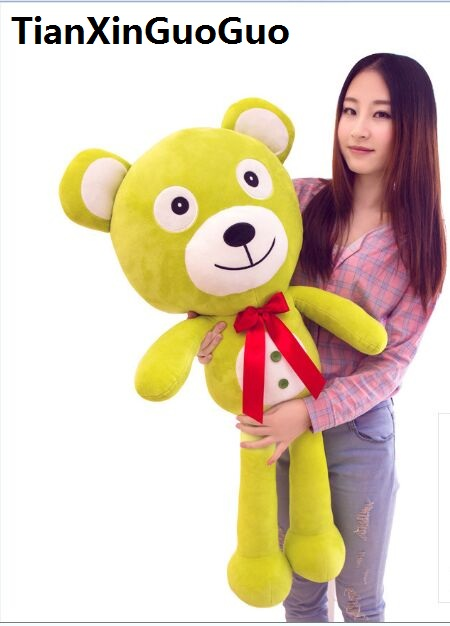 Фотография fillings toy large 120cm bowtie teddy bear plush toy good night green bear soft doll hugging pillow birthday gift w2531