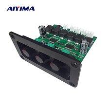 Placa amplificadora de áudio aiyima › subwoofer, alta potência tpa3118d 2.1, amplificadores de áudio digitais com painel