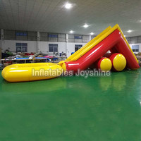Hot sale commercial grade PVC Tarpaulin brand new largest inflatable water slide with a pool