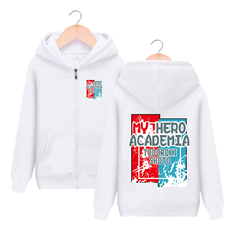 My Hero Academia Todoroki Shoto Hooded Hoodie Cosplay Costume Boku No Hero Academia Men Women Casual Sweatshirt Streetwear