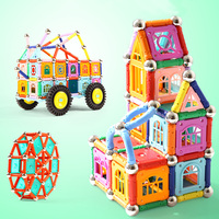 108 278pcs Magnetic Blocks Magnetic Designer Construction Set Magnet Bars Metal Balls Educational Toys for Children Kids Gift