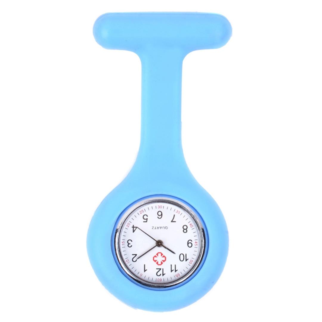 Shellhard Portable Men Women Nurse Watch Silicone Round Rubber Dial Pocket Brooch Tunic Fob Quartz Doctor Nurse Watch 12 Colors