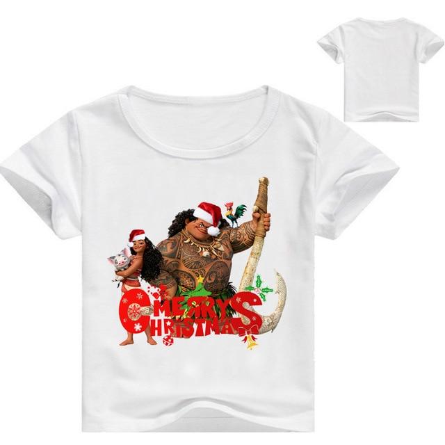 zy 3 16years moana vaiana xmas clothes baby merry christmas shirt kids t shirt girls - Christmas Shirts For Girls