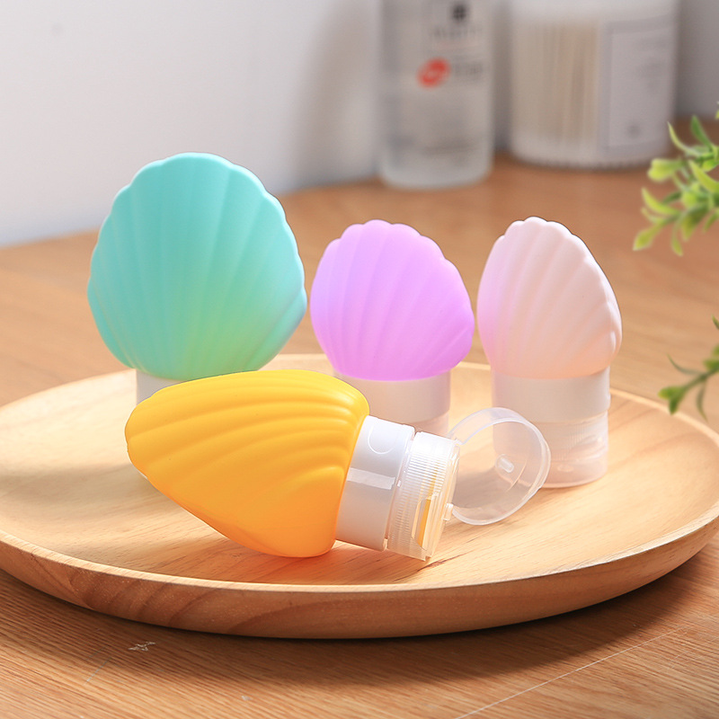 2018 NEW Cute 40/90ml Shell Silicone Travel Packing Bottle For Lotion Shampoo Bath Container Hot For Travel