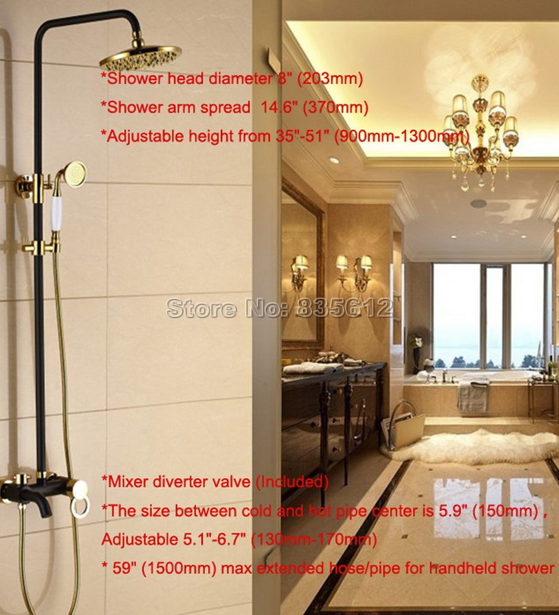 Aliexpress.com : Buy Gold & Black Oil Rubbed Bronze Bathroom Luxury ...