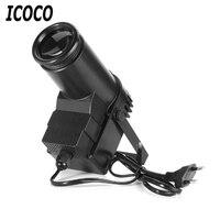 ICOCO Portable 30W RGBW LED Stage Light Spin Spot Beam Spotlight 6 Channel Atmosphere Light DJ