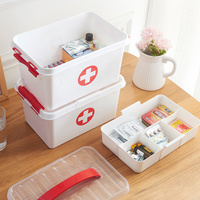 Double layer Family Small Drug Plastic Multi function Household Medicine Storage Medical Box