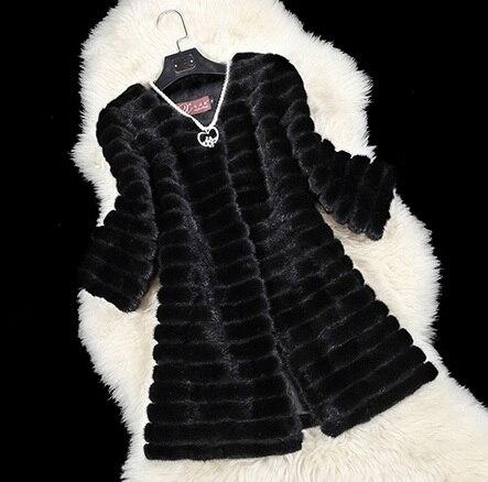 Sleeve Nouveau Gratuite Grand Fourrure Long Femmes Manteau Hiver Super Nine De Veste Sleeve Épais J701 luxe Sizefree seven Vison En gqgTwnr61A