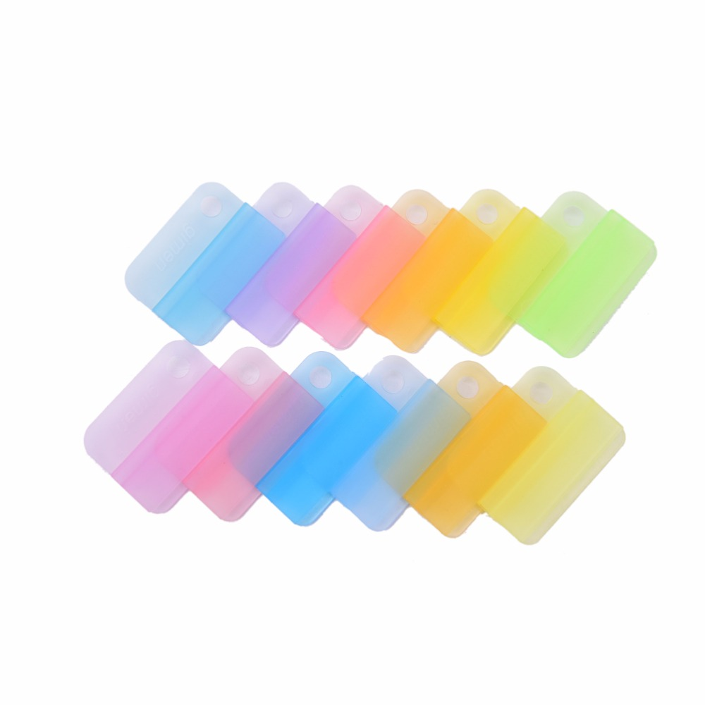 Paper Clips Transparent Protable Office Accessories School Supplies Stationery Writing Photo Paper Clips Mix Color 6pcs