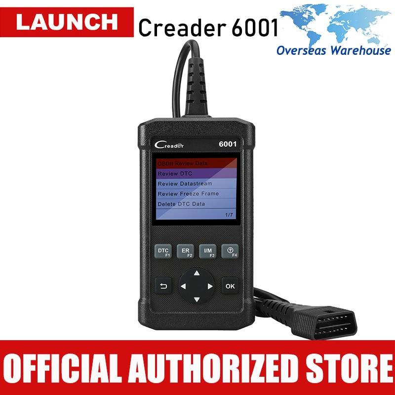 Launch Creader 6001 OBD2 инструмент сканирования читальный инструмент кодов с Управлением на борту Системы и печать данных через ПК