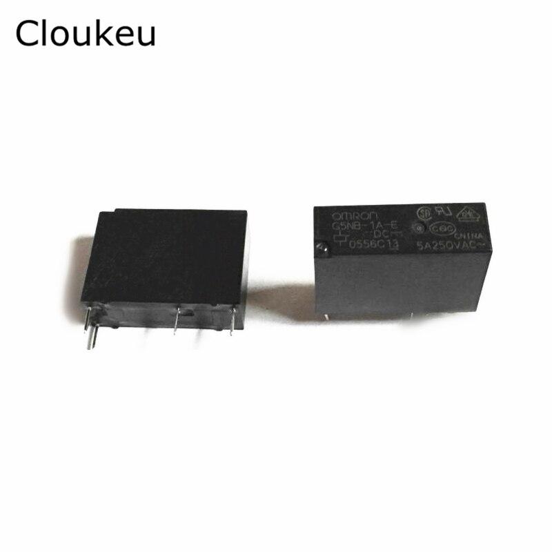 2Pcs Relay DIP4 G5NB-1A-E 5VDC 12VDC 24VDC 5V 12V 24V 5A внешний жесткий диск lacie porsche design mobile drive 1tb stfd1000400