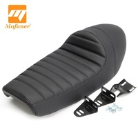 1 Set Black Hump Cafe Racer Vintage Motorcycle Seat Cover 60 x 25 x 16.5cm For KAWASAKI /KZ /Suzuki /GS /Honda /CB