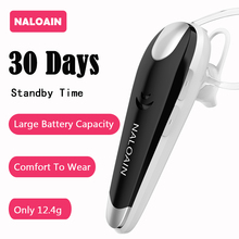hot deal buy naloain 30 days standby hands free bluetooth v4.1 earphones wireless in-ear headset headphones with mic in car for mobile phones