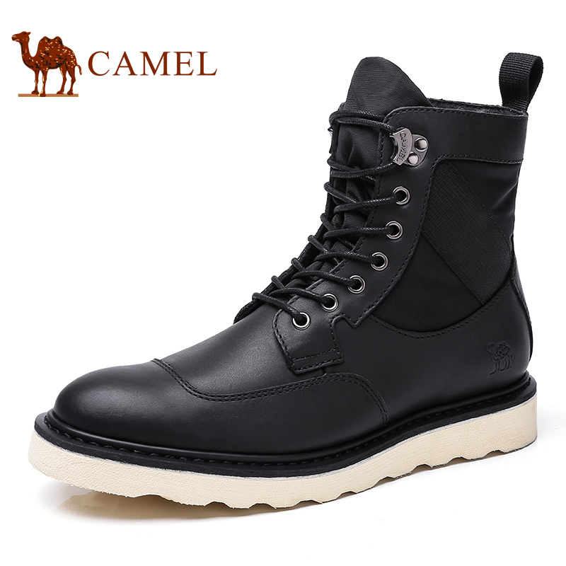 Верблюд Для мужчин обувь осень ботинки martin Британский Trend толстой подошве из яловой кожи обувь военный Botas Werkschoenen