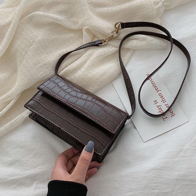 Mini Stone Pattern Crossbody Bags