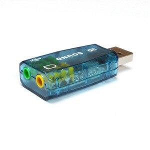 Image 3 - 800X USB כדי 3D אודיו USB חיצוני כרטיס קול מתאם 5.1 ערוץ קול מקצועי מיקרופון 3.5mm ממשק דה אודיו