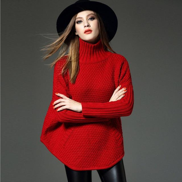 2016 Autumn New Retro Fashion Loose Bat Sleeve Women's Sweaters