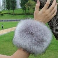 2015 Autumn And Winter Women S Extra Large Faux Fur Fox Fur Cuff Winter Oversleeps Hand