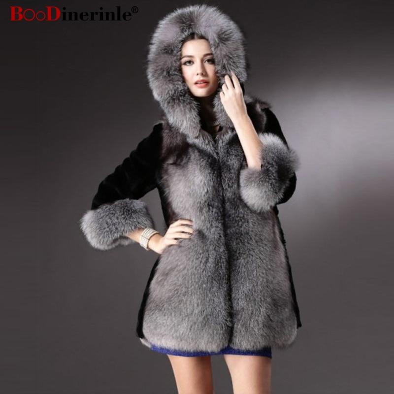 Hiver Fourrure Dames Capuchon En Taille Manteaux Color Outwear Chaud Picture Fausse De 3xl Plus À Veste Élégante Boodinerinle Femmes La Tops Femme Pc043 Couture dwxqOdI