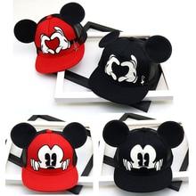 Fashion Cartoon Kids Hat Boy And Girl Baseball Caps Cute Mouse Mickey With Ears Flat baseball Cap Baby Travel Hats
