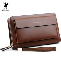 WilliamPOLO 2018 Brand Fashion High Quality Mens Clutch Wallet Luxury Wallet Men Organizer Wallet POLO162