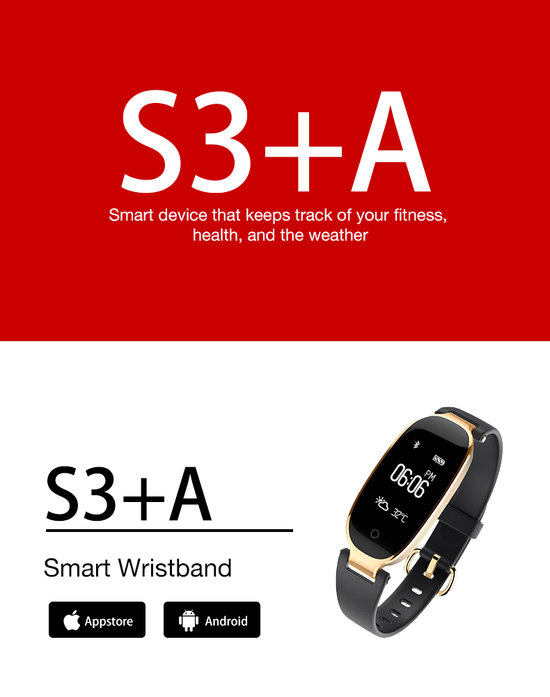 Soprt S3 Smart Watch Women Smart Bracelet Watches Bluetooth Heart Rate Monitor Fitness Tracker For Android IOS Clock reloj mujer 12