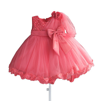 Baby Girl Dress Summer Children Girls Flower Lace Dresses Kids Princess Pearl Party Dress Toddler Clothes for 6 month - 4 yrs