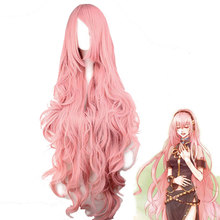 Vocaloid Megurine Luka Long Wig Cosplay Costume Women Heat Resistent  Synthetic Hair Wigs(China) 30dddb90a2af