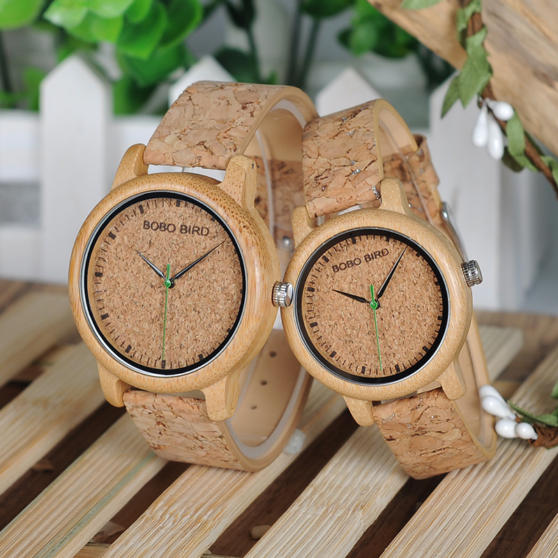 BOBO BIRD Timepieces Handmade Cork Strap Bamboo Women Wooden Watches 15
