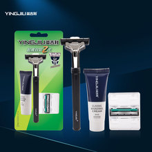 The double decker rotary manual razor razor with 1 knife knife 2 blade shaving cream / +20g