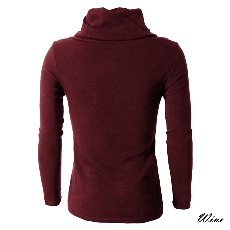Heflashor Autumn Winter Turtleneck Sweater Men Casual Knitted Sweaters Warm Fashion Pullovers Male Christmas Sweater Tops #2