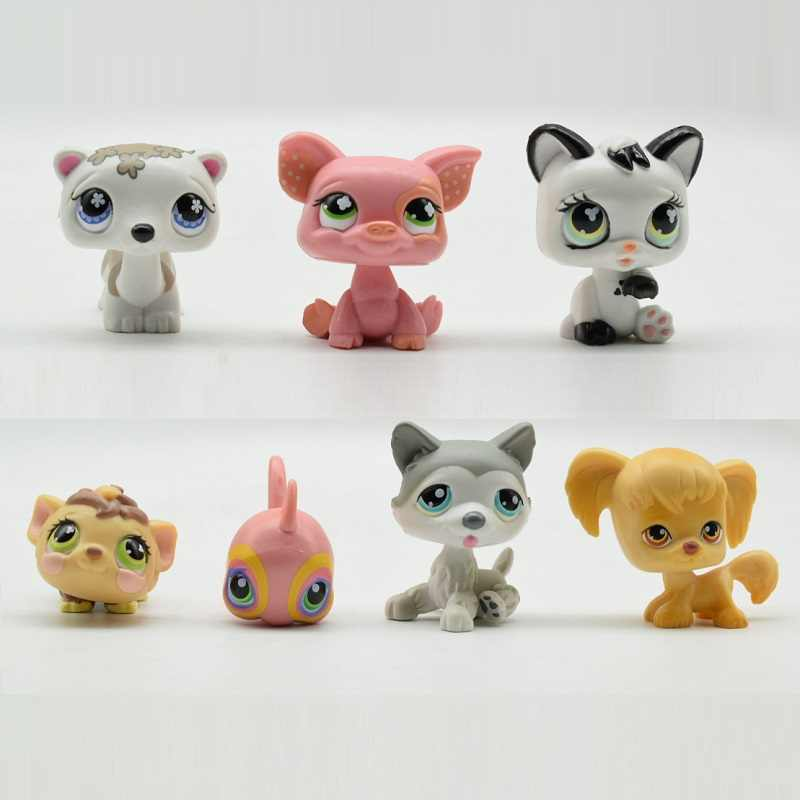 Lovely Animals lps Cute puppy cat Action Figure Cute Pet Toys for children Birthday/Christmas Gift 7 pcs/set