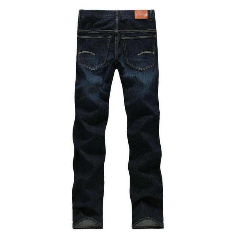 Pria Jeans Pria Merek 100% Katun Desainer Jeans Slim Besar & Tinggi - Pakaian Pria - Foto 4
