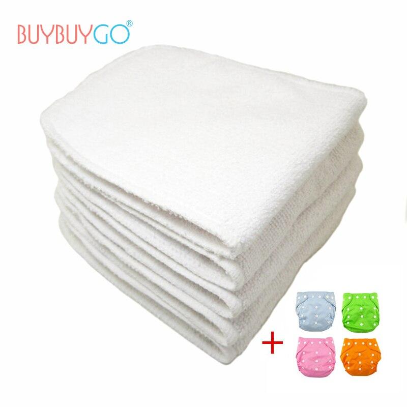 1 unid cubierta del pañal del bebé y 3pcs del pañal del bebé ropa - Pañales y entrenamiento para ir al baño - foto 1